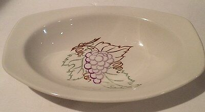 """Taylor Smith & Taylor Conversation 10""""Oval Bowl Grape Designed By Walter Teague"""