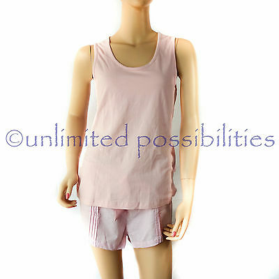 Bras N Things Sweet Gingham Short PJ Set New Printed Light Pink S14 w Tags