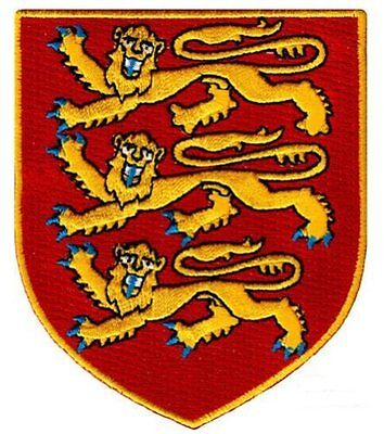 England Royal Coat Arms Embroidered Iron On Patch