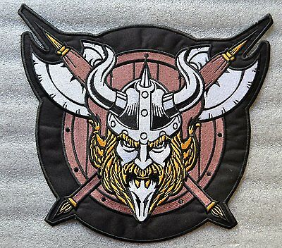 VIKING Embroidered Iron On Patch Large 29 X 27 cm