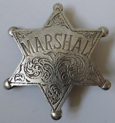 Marshal Star Old West  Western Badge Pin Bw-45