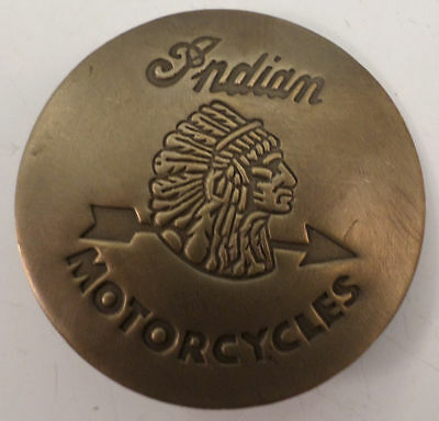 Embossed Indian Motorcycles Solid Brass Badge Pin #167