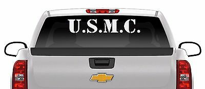 28 inch USMC USA Marines patriotic vinyl decal sticker pro gun Marine corps flag