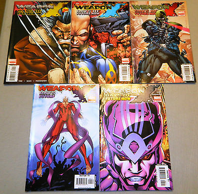 Weapon X Days Of Future Now 1 2 3 4 5 Comic Set Marvel Comics Fun Wolverine