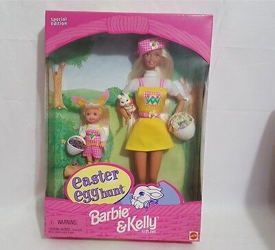 1997 Mattel Easter Egg Hunt Barbie & Kelly Gift Set 19014 NRFB