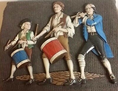 Sexton Metal Wall Plaque 550 Spirit Of 76 Trio Of Revolutionary War Soldiers