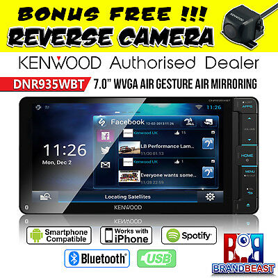 "New Kenwood Dnr935wbt 7"" Wi-fi Bluetooth Toyota Direct Size 200mm Air Mirroring"