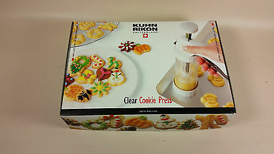 Kuhn Rikon clear cookie press open box unused
