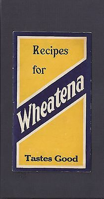 Whetena Recipe Booklet 16 Pages Including Covers Wheatenaville Rahaway Nj