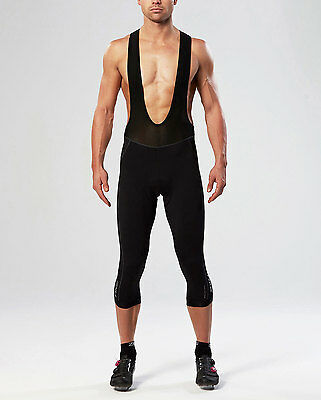 NEW 2XU Thermal 3/4 Cycle Bib Shorts Mens Base Layers