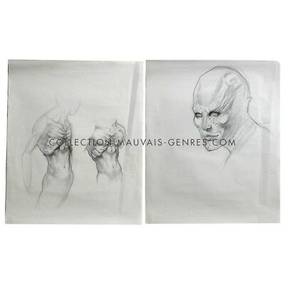 BLADE 2 Lot of TWO Production-used Drawings, Serkeris !