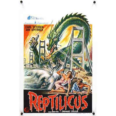 REPTILICUS Belgian '62 indestructible 50 million year-old giant lizard destroys