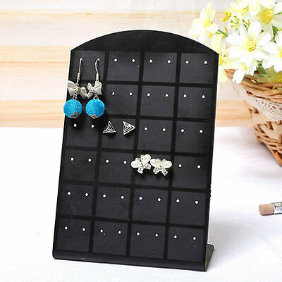 New Fashion Hole Earrings Ear Studs Jewelry Display Organizer Holder Black