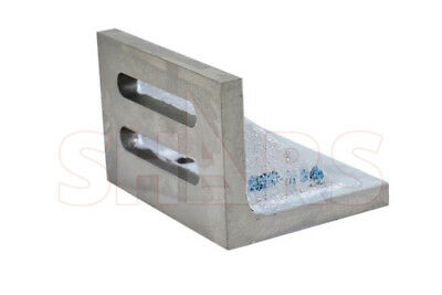 """Ground .0005"""" Webbed Slotted Angle Plate 7x5-1/2x4-1/2"""" High Tensile Cast Iron"""