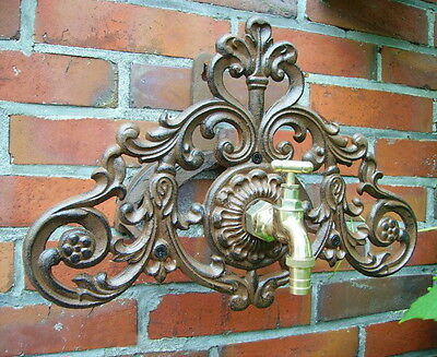 Tube Holder With Tap Cast Iron Antique Country Style Garden New