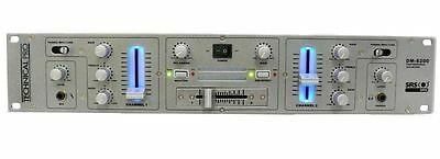 """Technical Pro DMS200 19"""" 2U Rack Mount 2 Channel DJ Mixer with MP3 Input"""