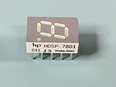 Lot Of (50) New Hp Hdsp-7801 Led 7-Seg 7.6Mm Ca Green Rhd