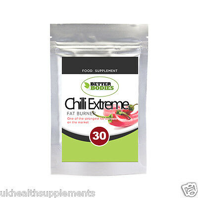 Strongest Fat Burners Burner Pills Capsules Weight Loss Diet Extreme Chilli Pill
