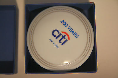 Citi Bank New York 200 Year Anniversary Trinket Box Mottahedeh Porcelain