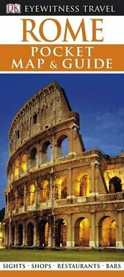 DK Eyewitness Pocket Map and Guide: Rome by DK Travel Paperback Book The Cheap