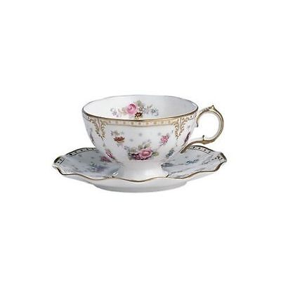 New Royal Crown Derby 2nd Quality Antoinette Tea Cup & Saucer