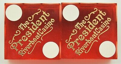 Casino Dice - President Riverboat Pair Used Dice Davenport Ia - Free Shipping