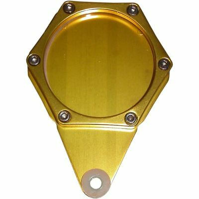Tax Disc Holder Hexagon Gold 6 Studs