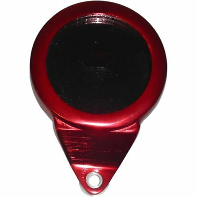 Tax Disc Holder Round Red Anodised