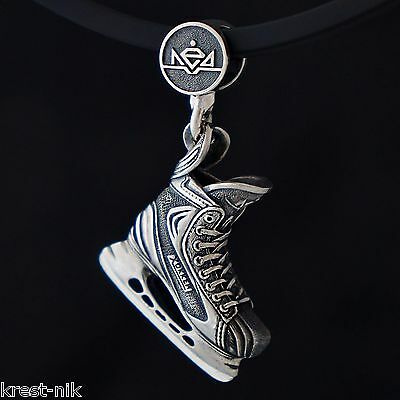NEW exact copy Hockey Skate Charm pendant Sr size champion sterling silver