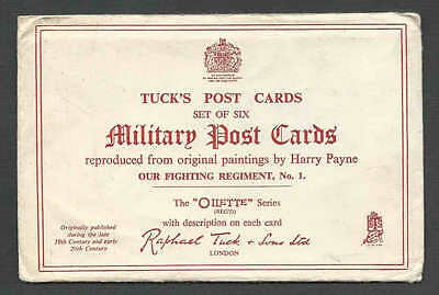 Ca 1922 PPC* TUCK SET OF 6 MILITARY POST CARDS OF KINGS DRAGOON SEE INFO