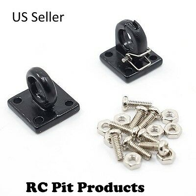 """1/10 RC Rock Crawler/Truck Scale Accessory Pintle Hitch/Hook Black """"US SELLER"""""""