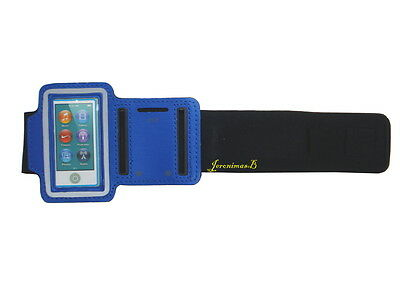 Sport Armband Case Cover gym for iPod Nano 7G,8G Player Screen Protector Blue