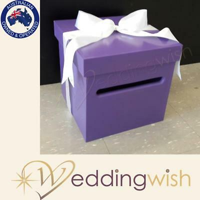 Purple Wedding Wishing Well - wooden timber box - Engagement 21st card box