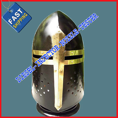 Medieval Sugarloaf Helmet Black Ancient Collectible Knight Armour SugarLoaf Helm