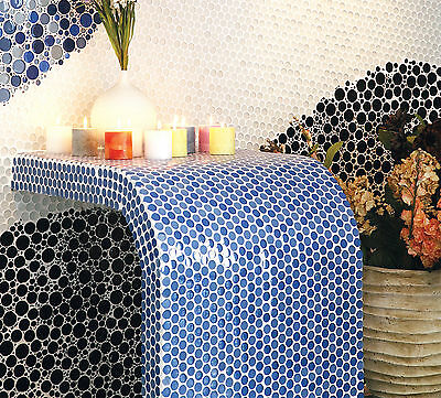 Glass Mosaic Tiles Penny round circle for Kitchen and bathroom
