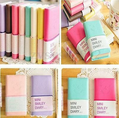 Cute Smiley Mini Pocket Notebook Paper Memo Diary Planner Tiny Journal Notepad