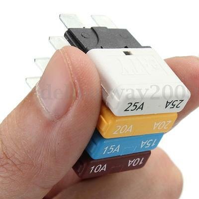 10 15 20 25A Automatic Resettable Circuit Breaker Blade Fuse For Car Auto Marine