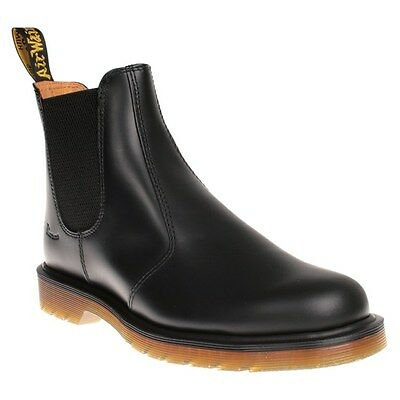 New Mens Dr. Martens Black 2976 Leather Boots Chelsea Pull On