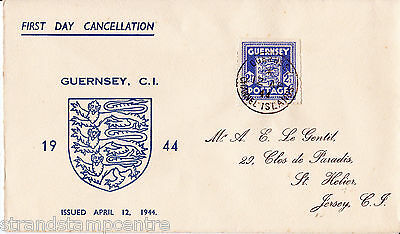 1937 Channel Isles Occupations - Guernsey Blue 2½d Arms - Guernsey CDS
