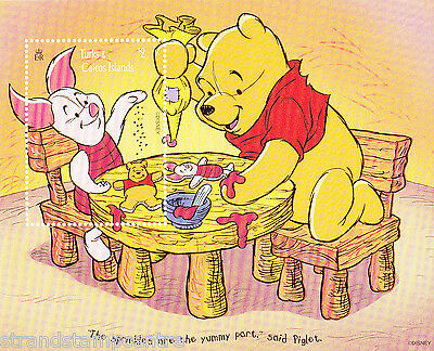 Piglet & Pooh 'Sprinkles' Stamps fromTurks & Caicos