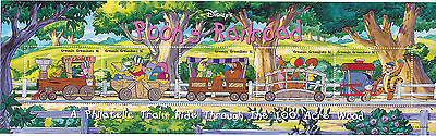 Pooh's Railroad - 100 Acre Wood Miniature Sheet from Grenada Grenadines