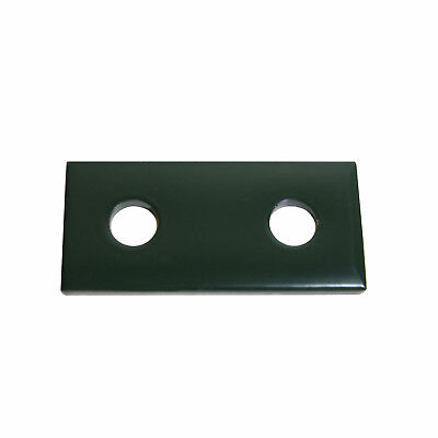 (2) Hole Flat Plate Fitting / Green / (Qty10)  P1065 & B129 For Unistrut Channel
