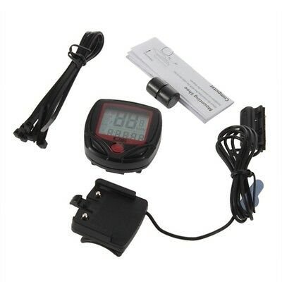 Cycling computer 14 function LCD odometer speedometer bicycle monitor