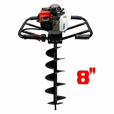 "3HP 63cc EPA Gas Earth 2 Man Post Hole Digger 2 Person Machine + 8"" Auger Bit"