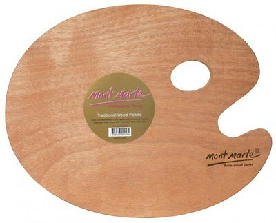 Mont Marte Traditional Oval Wood Paint Palette