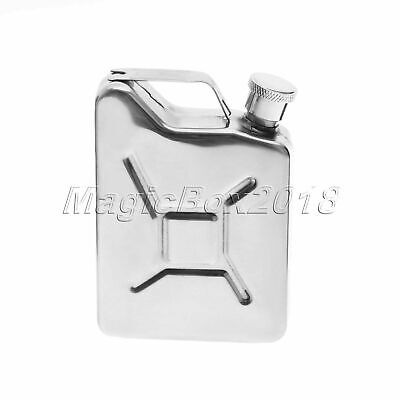 Stainless Steel 5oz Jerry Can Hip Flask Pocket Wine Liquor Whisky Pocket Bottle