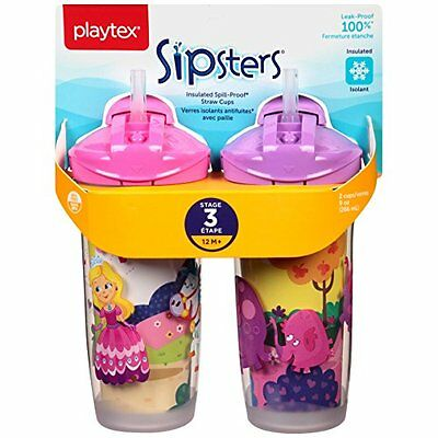 Playtex Sipsters Insulated Spill Proof 9oz Cup 2 ct Style and color Vary