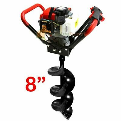 "8"" V-Type 55CC Auger Bit 2 Stroke Gas Post Digger Hole 2.3HP Engine Air Cooled"