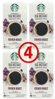 Starbucks VIA FRENCH ROAST Instant Coffee 32 pouches Exp 2017
