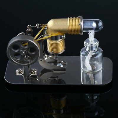 Mini Hot Air Stirling Engine Motor Model Educational Toy Kits Electricity